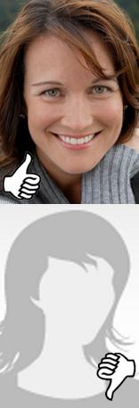 kvinnelig profil på datingside